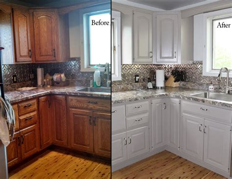 Painted White Oak Cabinets painting oak kitchen cabinets before and after with white colors oak cabinets