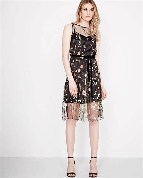 Mesh Dress embroidered mesh dress rw co