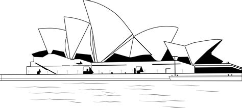 coloring page of sydney opera house sydney opera house free stock photo public domain pictures