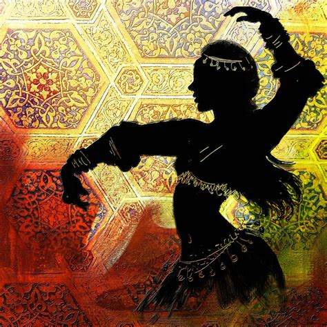 Curtain Dancing Abstract Belly Dancer 12 Painting By Corporate Art Task Force