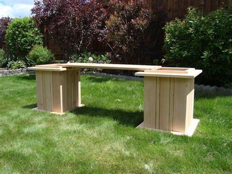 planter box benches cedar planter box bench by teresa mellon lumberjocks