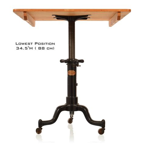 satellite industrial table with adjustable base at