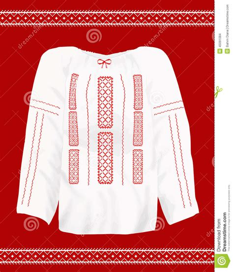 svg pattern ie romanian traditional blouse stock vector image 45091084