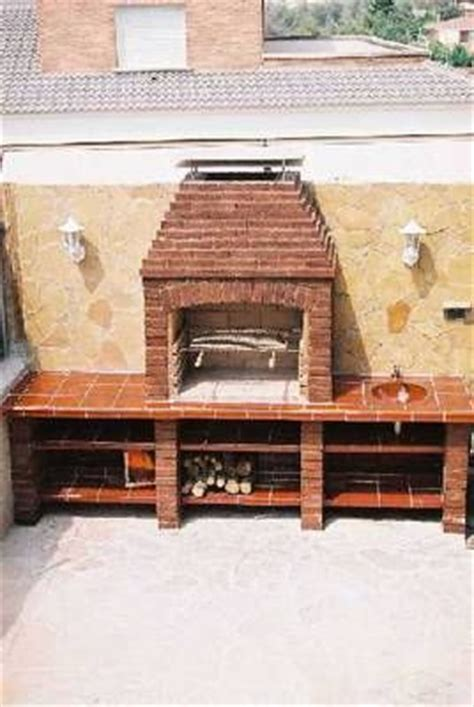 asador de ladrillo patio pinterest