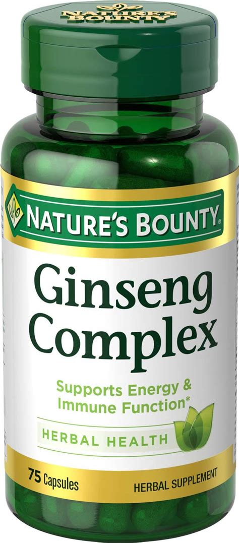 Herbal Ginseng nature s bounty ginseng complex herbal health