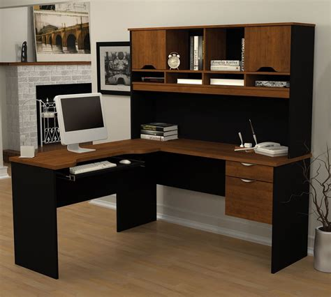 desk l with storage l shaped computer desk w hutch corner office furniture