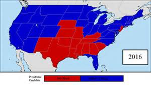 2016 us presidential election 1st prediction map by