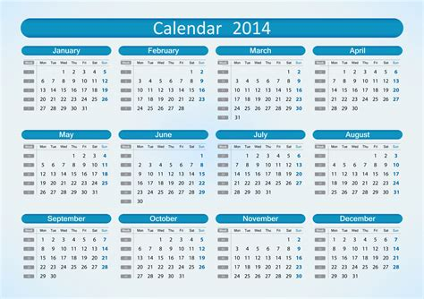 2014 calendar template with holidays 6 best images of printable month calendar 2014 6 month