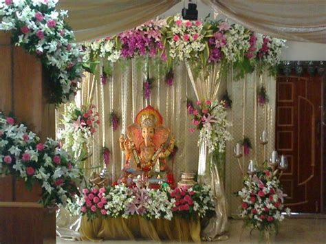 home decoration with flowers flower decoration for pooja www imgkid the image