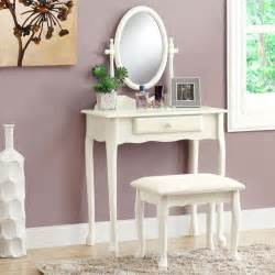 Makeup Vanity Overstock Antique White Vanity Set With Stool Contemporary