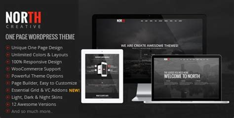 themeforest north theme themeforest north v3 98 one page parallax wordpress
