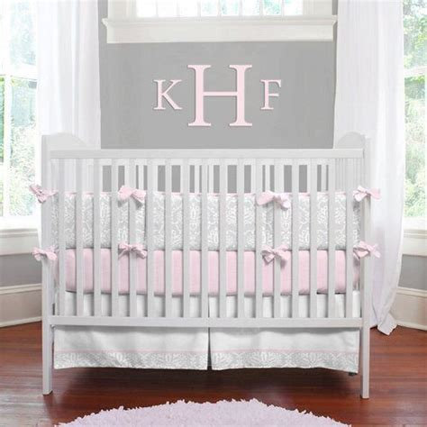 pink and grey nursery bedding inspiration for a pink and gray baby girl nursery