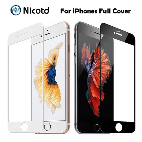 Tempered Glass Color 5d Iphone 7 Plus 9h 0 2mm 2 5d colorful cover tempered glass for
