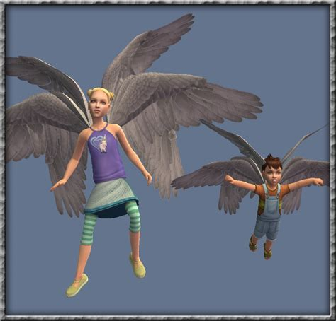 wings sims4 cc mod the sims synapticsim s wings multi mesh toddler