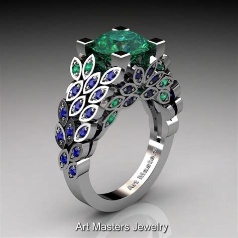 masters nature inspired 14k white gold 3 0 ct emerald