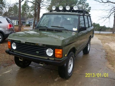 range rover hunter purchase used 1991 land rover range rover hunter sport