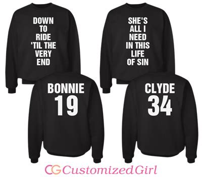 matching couple bonnie and clyde shirts customizedgirl blog