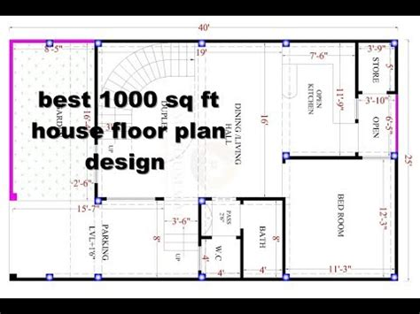 Layout Square Meaning | best 1000 sq ft house design floor plan elevation