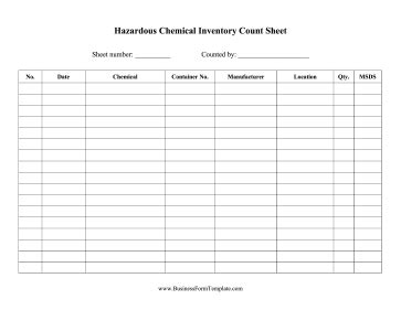 Hazardous Chemical Inventory Template Chemical Inventory List Template