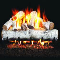 peterson real fyre 18 inch white birch gas log set with