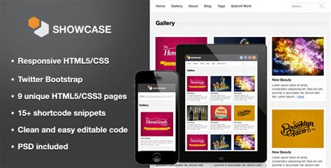 photo gallery template html showcase responsive html5 template by webcodebuilder