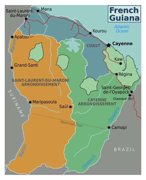 map of guiana south america maps of guiana map library maps of the world