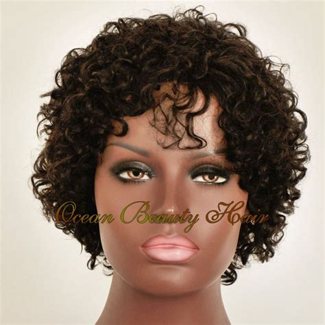 affordable short spike wigs for black women cheap human hair wigs for white black women short