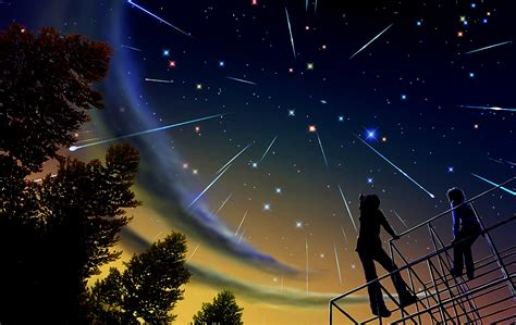 wallpaper bintang malam hari coretanku dia dan bintang merah jambu