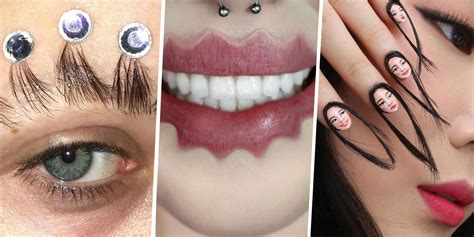 trends of 2017 2017 s weirdest hair makeup and nail trends we didn t