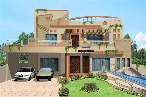 home design 3d front elevation house design w a e company 3d front elevation com 1 kanal house villa banglow