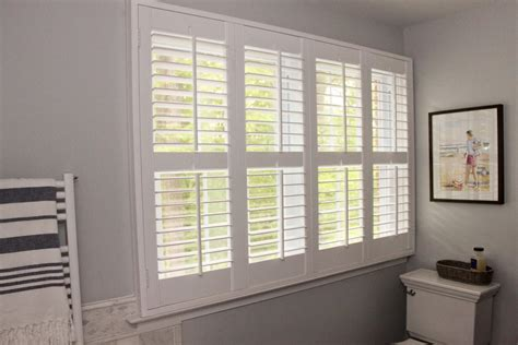 plantation shutters for bathroom window enhance the appeal of your home with plantation shutters