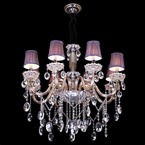 Purple Chandelier Shades Evrosvet Theresa 8 Light Royal Chandelier W Purple Shades 30w X 27h Districtdecor