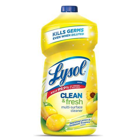 lysol clean fresh sparkling lemon sunflower essence scent multi surface cleaner  oz
