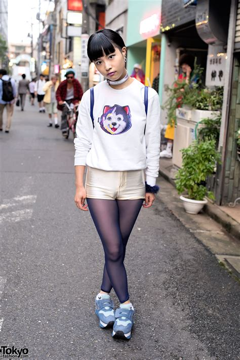lisa frank dog sweatshirt short shorts velcro sneakers  funktique harajuku