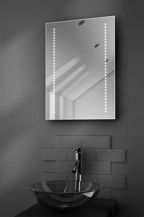 Led Illuminated Bathroom Mirrors Gaze Ultra Slim Led Bathroom Illuminated Mirror With Demister Pad Sensor K10e Ebay