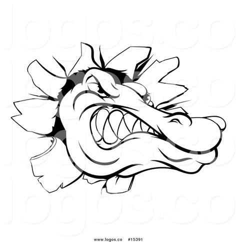logo black and white crocodile royalty free vector logo of a vicious crocodile