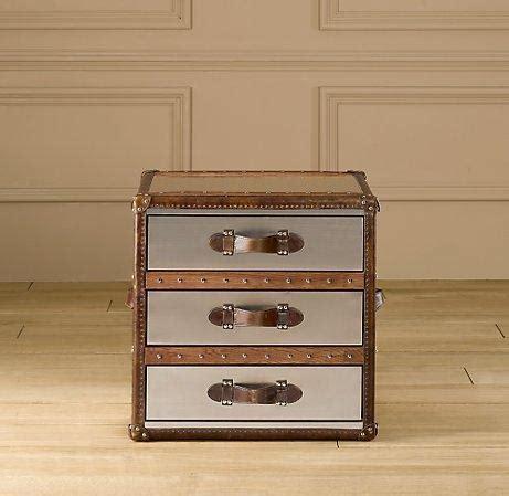 steamer trunk dresser restoration hardware mayfair steamer cube with drawers brushed steel trunks