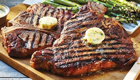 best t bone steak on a oven grilled t bone steak with lemon dill butter asparagus sobeys inc