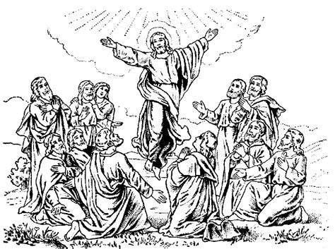 bible coloring pages jesus ascension greeting cards by irene