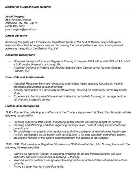 majestic design med surg nurse resume 6 nursing resume med surg