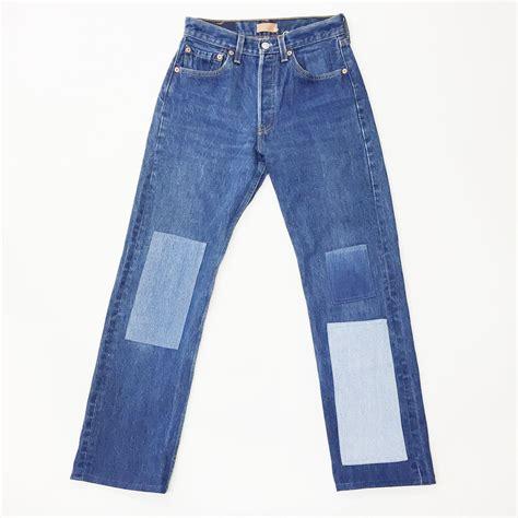 Levi S Patchwork - b sides levi s 501 patchwork denim garmentory