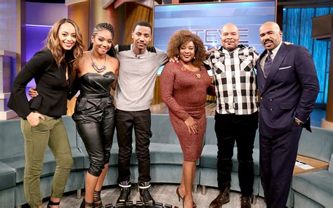 with the cast kicking it with the cast of the carmichael show