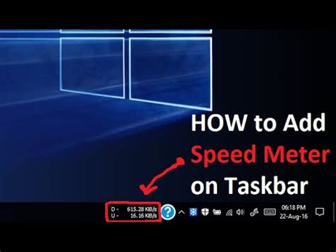 how to m how to add speed meter in desktop taskbar windows 10 8