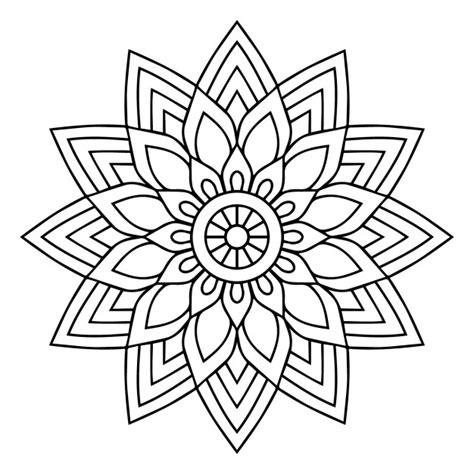 imagenes en blanco y negro de mandalas un mandala en blanco y negro descargar vectores gratis