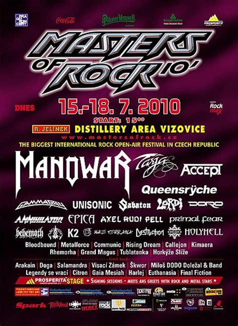 masters  rock    days vizovice czech republic  metal calendar
