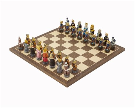themed chess sets the cats vs dogs painted themed chess set by italfama
