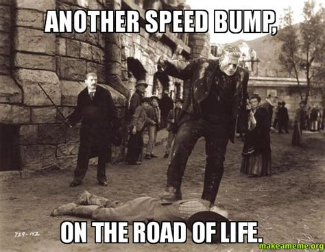 Speed Bump Meme - another speed bump on the road of life make a meme