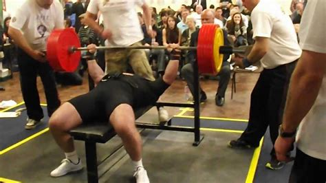 uk bench press record powerlifting bench press world record 305 kg youtube