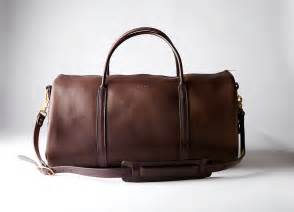 Brown leather weekender bag gorgeous handmade in by connordickson