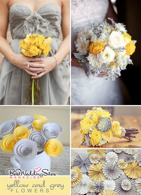 Grey Flower yellow event decor on vintage wedding centerpieces grey weddings and yellow flowers